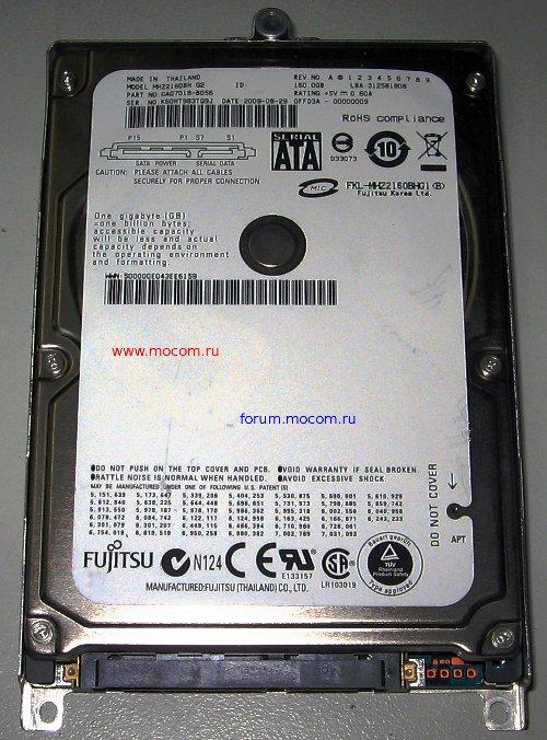 fujitu mhz2160bh g2 ファームウェア