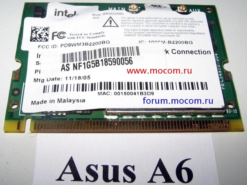for Asus A6000